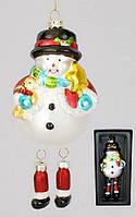 Елочная игрушка Снеговик, 16см