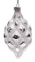 Елочное украшение 12,5см белый с серебром