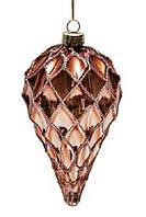 Елочное украшение 12см коричневый