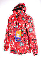Женская горнолыжная(лыжная) куртка Snow headquarter c Omni-Heat красная