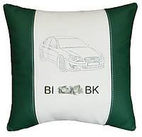 Автомобильная подушка в машину с вышитым логотипом субару Subaru