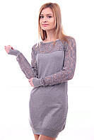 Женское платье с кружевом. Туника женская.