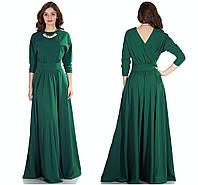 Платье зеленое в пол