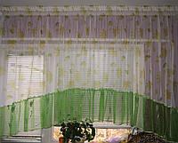 Комплект штор до подоконника полуарка