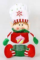 Банка для конфет с мягкой игрушкой Повар, 28см