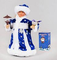 Музыкальная новогодняя игрушка Снегурочка, 24см