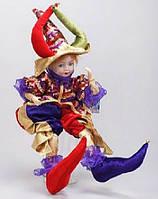 Новогодняя музыкальная игрушка Шут, 56см