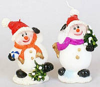 Декоративная новогодняя свеча Снеговик, 10см