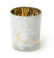 Подсвечник - Морозные узоры, золото