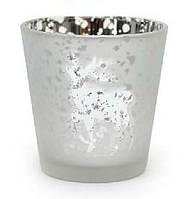 Подсвечник - Морозные узоры, серебро
