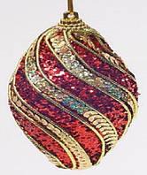 Елочное украшение в форме оливы, 6см