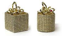 Елочн.украшение Подарок (2 диз-на микс), цвет - золото