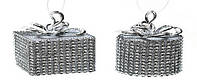 Елочн.украшение Подарок (2 диз-на микс), цвет - серебро