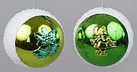 Елочный шар с декором, 8см
