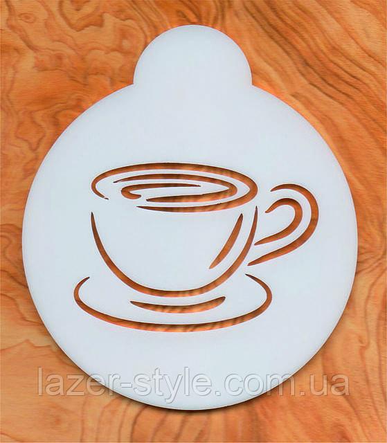 Как сделать рисунок на кофе трафаретом