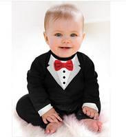Боди детский смокинг для маленьких джентельменов комбинезон