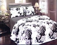Комплект постельный подарочный евро сатин Пионы