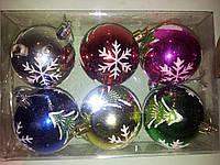 Набор новогодних шаров из 6шт