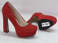 Туфли женские Crisma красная замша