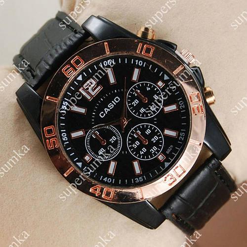 Классические наручные часы Casio Pink Gold/Black 6016