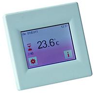 Терморегулятор с сенсорным экраном(с датчиком пола и воздуха)