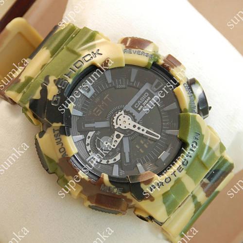 Популярные спортивные наручные часы Casio GA-110 Militari Green 6033