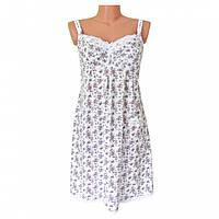 """Ночная сорочка для беременных и кормящих мам """"Сиреневые цветы"""""""