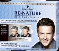 Re-Nature Re-Pigmentierungs-Creme Dunkel Männer - Крем для восстановления цвета волос, тёмный оттенок