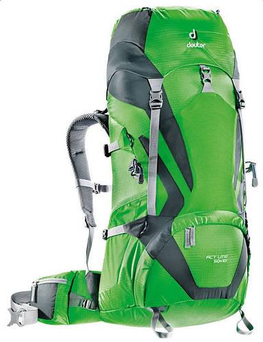 Туристический мужской рюкзак DEUTER ACT Lite 50 + 10, 3340315 2417 зеленый