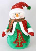 Новогодняя мягкая игрушка Снеговик, 38см