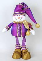 Новогодняя мягкая игрушка Снеговик, 63см