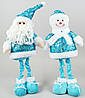 Новогодняя мягкая игрушка Санта и Снеговик, 44см