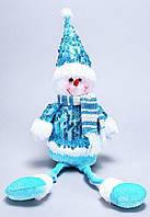 Новогодняя мягкая игрушка Снеговик, 56см