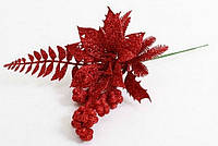 Декоративная композиция красная, 27см