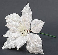 Декоративная пуансеттия белая, 21 см
