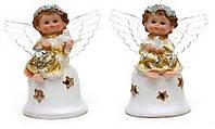 Фигурка Ангелочек золотой с крылышками LED 11см в асс 2