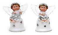 Фигурка Ангелочек серебро с крылышками LED 11см в асс 2