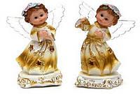 Фигурка Ангелочек золотой с крылышками LED 13см в асс 2