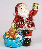 Новогодняя статуэтка с подсветкой Санта, 16.2см