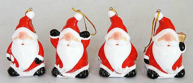 Новогодняя фигурка-подвеска Санта, 7см
