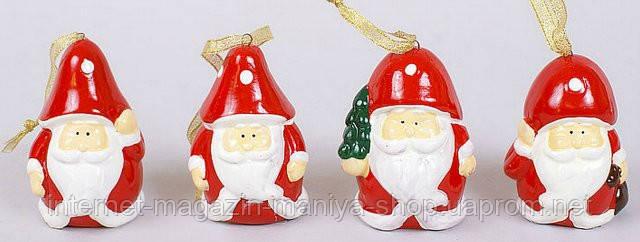 Новогодняя фигурка-подвеска Санта, 8см