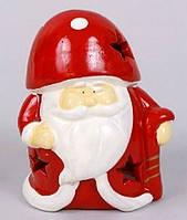 Новогодняя фигурка с подсвечником Санта, 11.2см