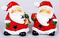 Новогодняя фигурка Санта с подсветкой, 10.5см