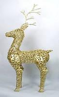 Декоративный олень с подсветкой (20 лампочек), 90см