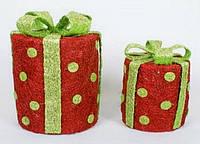 Набор декоративных подарков (2) с подсветкой, 20см и 30см