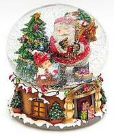 Декоративный водяной шар 16см Санта