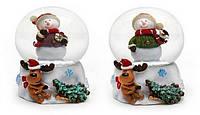 Декоративный водяной шар 5см Снеговик в асс 2