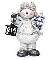 Декоративная фигура под елку 45см Снеговик