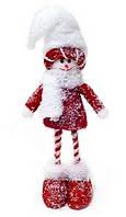 Новогодяя декоративная игрушка Снеговик 29см