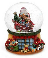 Декоративный водяной шар 11см с музыкой Санта